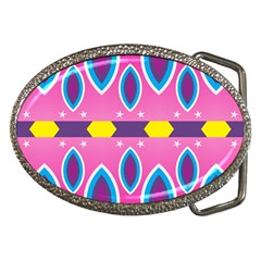 Ovals and stars                                                    			Belt Buckle