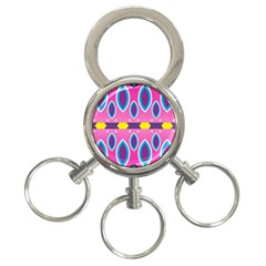 Ovals and stars                                                    			3-Ring Key Chain