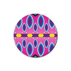 Ovals and stars                                                    Rubber Round Coaster (4 pack)