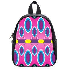 Ovals and stars                                                    			School Bag (Small)