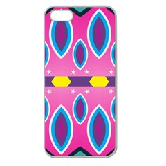 Ovals and stars                                                   			Apple Seamless iPhone 5 Case (Clear)