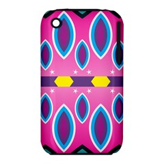 Ovals and stars                                                   			Apple iPhone 3G/3GS Hardshell Case (PC+Silicone)