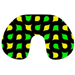 Yellow green shapes                                                     Travel Neck Pillow