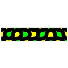 Yellow green shapes                                                     Flano Scarf