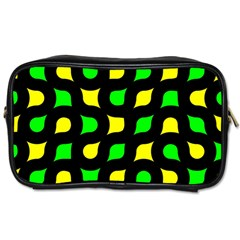 Yellow green shapes                                                     Toiletries Bag (Two Sides)