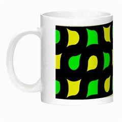 Yellow green shapes                                                     Night Luminous Mug