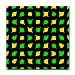 Yellow green shapes                                                     Tile Coaster