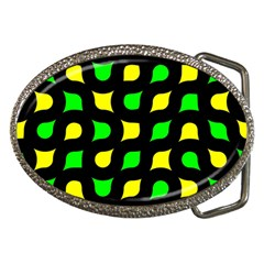 Yellow Green Shapes                                                     			belt Buckle