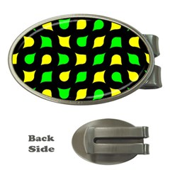 Yellow green shapes                                                     Money Clip (Oval)