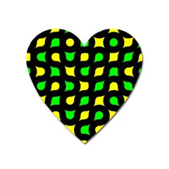 Yellow green shapes                                                     			Magnet (Heart)