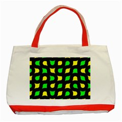 Yellow green shapes                                                     Classic Tote Bag (Red)