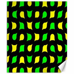 Yellow green shapes                                                     			Canvas 8  x 10