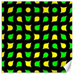 Yellow green shapes                                                     			Canvas 16  x 16