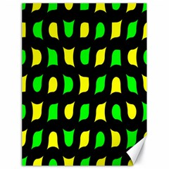 Yellow green shapes                                                     			Canvas 18  x 24
