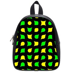 Yellow green shapes                                                     			School Bag (Small)