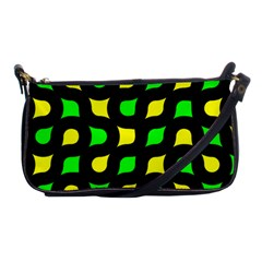Yellow green shapes                                                     			Shoulder Clutch Bag