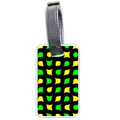 Yellow green shapes                                                     			Luggage Tag (one side)