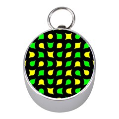 Yellow green shapes                                                     Silver Compass (Mini)