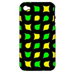 Yellow green shapes                                                    Apple iPhone 4/4S Hardshell Case (PC+Silicone)