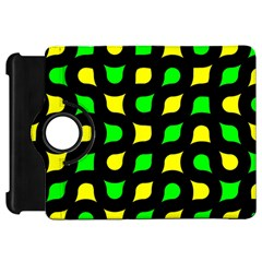 Yellow green shapes                                                    			Kindle Fire HD Flip 360 Case