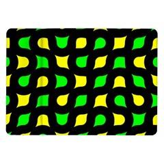 Yellow green shapes                                                    			Samsung Galaxy Tab 10.1  P7500 Flip Case