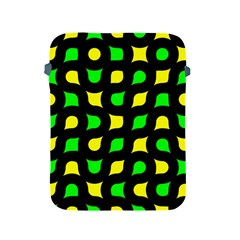Yellow green shapes                                                    			Apple iPad 2/3/4 Protective Soft Case