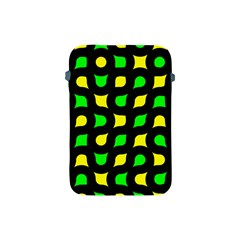 Yellow green shapes                                                    			Apple iPad Mini Protective Soft Case
