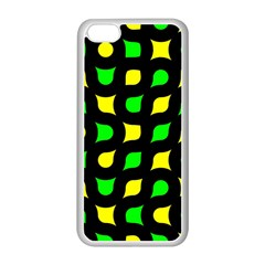 Yellow green shapes                                                    			Apple iPhone 5C Seamless Case (White)