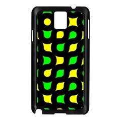 Yellow green shapes                                                    Samsung Galaxy Note 3 N9005 Case (Black)