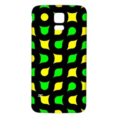 Yellow green shapes                                                    			Samsung Galaxy S5 Back Case (White)