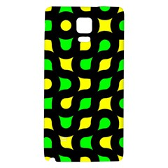 Yellow green shapes                                                    			Samsung Note 4 Hardshell Back Case