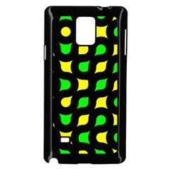 Yellow green shapes                                                    Samsung Galaxy Note 4 Case (Black)