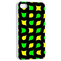 Yellow green shapes                                                    Apple iPhone 4/4s Seamless Case (White)