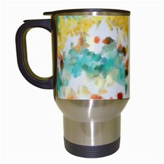 Retro watercolors                                                      Travel Mug (White)