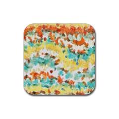 Retro watercolors                                                      Rubber Square Coaster (4 pack