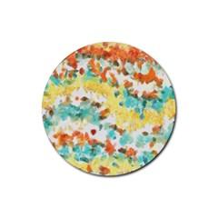 Retro watercolors                                                      Rubber Coaster (Round)