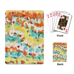 Retro watercolors                                                      			Playing Cards Single Design