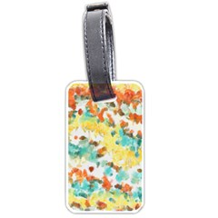 Retro watercolors                                                      			Luggage Tag (one side)