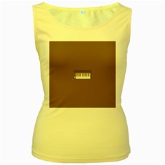 Keyboard Brown Women s Yellow Tank Top