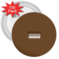 Keyboard Brown 3  Buttons (100 pack)