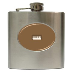 Keyboard Brown Hip Flask (6 oz)