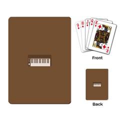 Keyboard Brown Playing Card