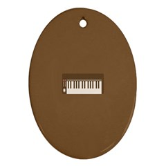 Keyboard Brown Oval Ornament (Two Sides)