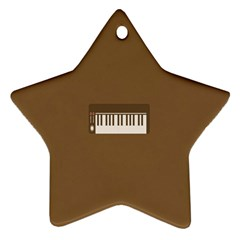 Keyboard Brown Star Ornament (Two Sides)