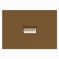 Keyboard Brown Large Glasses Cloth (2-Side)