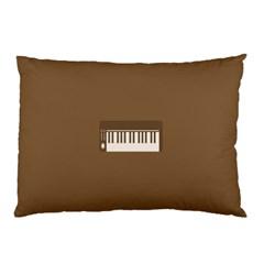 Keyboard Brown Pillow Case
