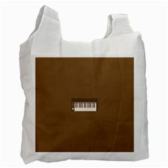 Keyboard Brown Recycle Bag (Two Side)