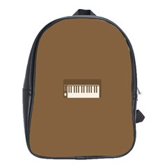 Keyboard Brown School Bags(Large)