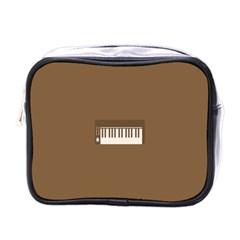 Keyboard Brown Mini Toiletries Bags