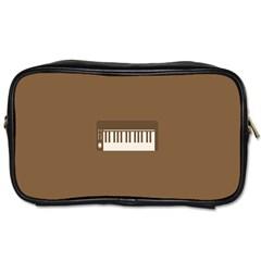 Keyboard Brown Toiletries Bags